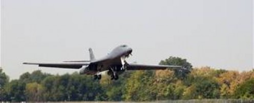 B-1B Lancer at Wright Patterson Air Force Base in Western Ohio