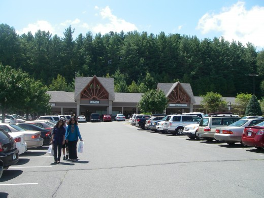 Tanger Mall, Blowing Rock, near Boone