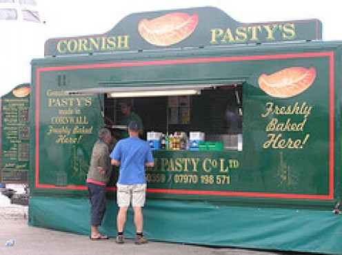 A Cornish Pasty stand at the Beach