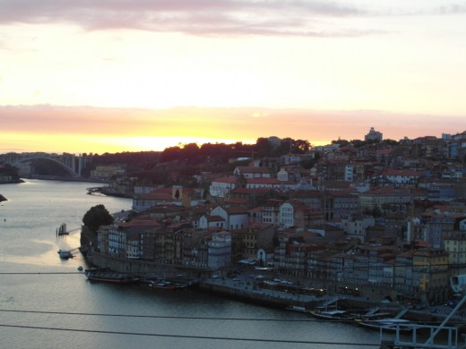 Sunset in Porto.