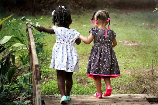 Pre K Girls Walking