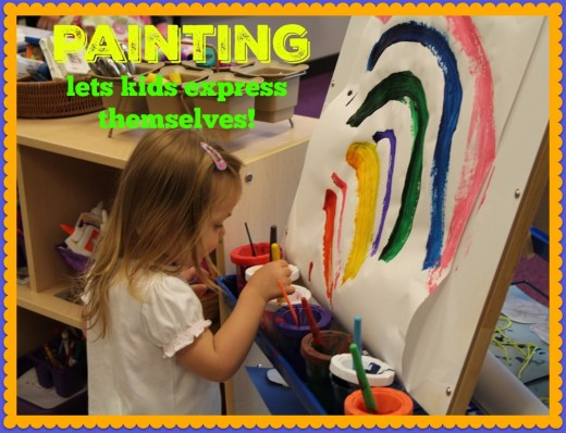 Painting is a joyful experience for young children. They can express themselves through their art, explore materials, and discover new techniques. It's an open-ended art activity with limitless possibilities.