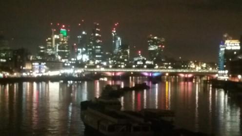 The Thames lit up