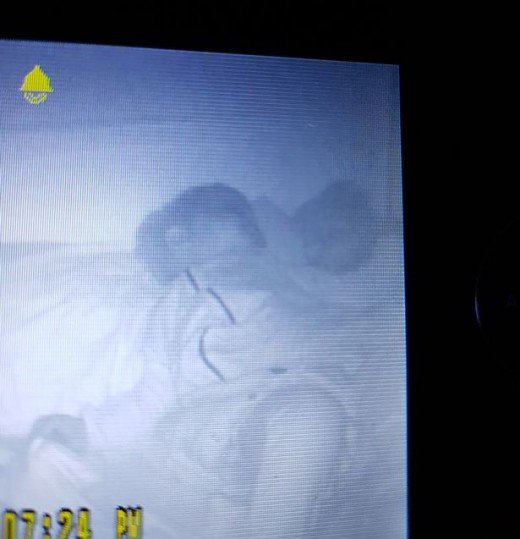 A mom's nightmare seeing a ghost baby lying beside her own through the video baby monitor!