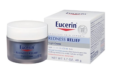 Eucerin Sensitive Skin Redness Relief Soothing Night Creme Gets Fairly Decent Reviews at Amazon