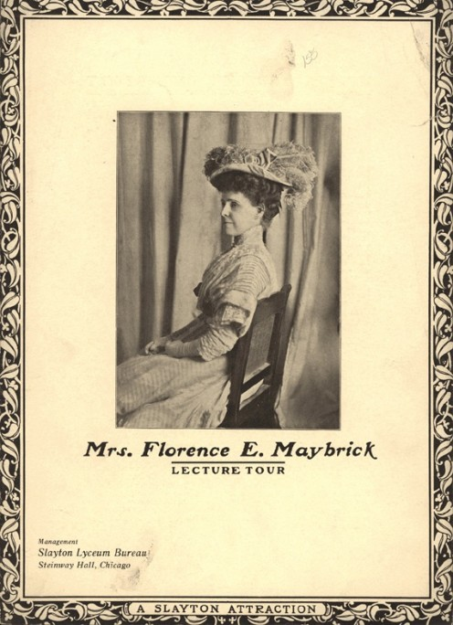 Florence Maybrick on the Lecture Circuit