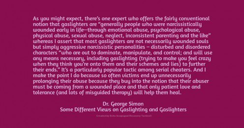 Some Different Views on Gaslighting by Dr. George Simon