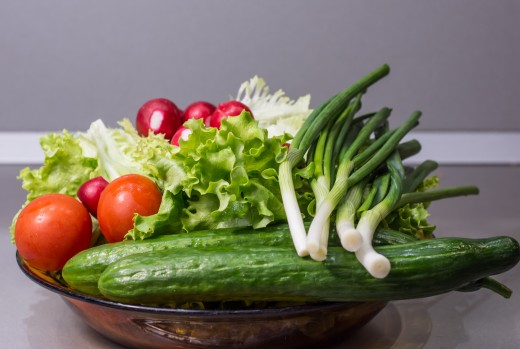 Fresh vegetables will grace any meal table.