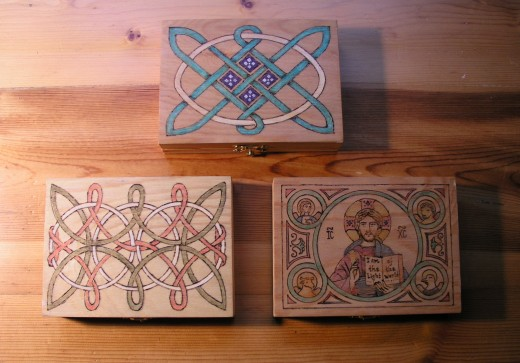 Various box designs by the author.