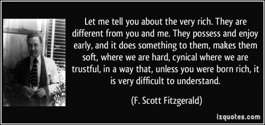 "This is a quote by Fitzgerald about ""Rich Boy"" Anston Hunter who is a complex character that is considered an ""Alpha Male"""