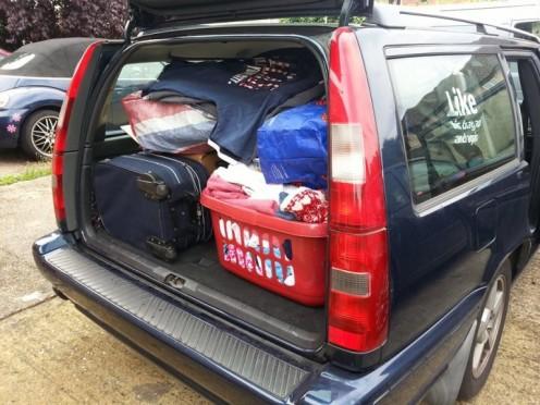 Cool car packing, Dad!
