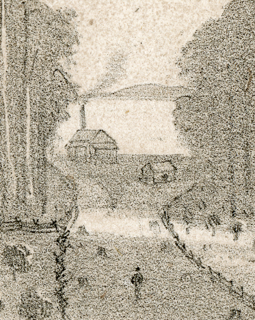 Part of a Lithograph Drawing of the Colony