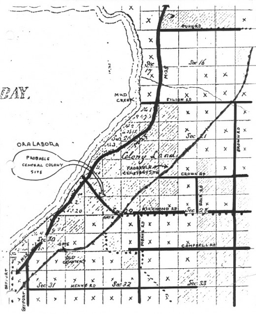 Plat Map of the Area of the Colony