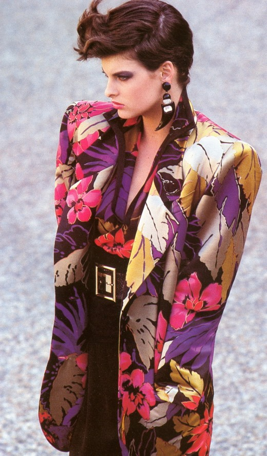 80's fashion- shoulder pads