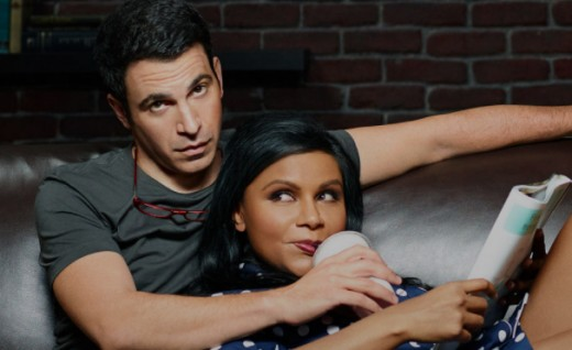 Mindy Kaling with an actor