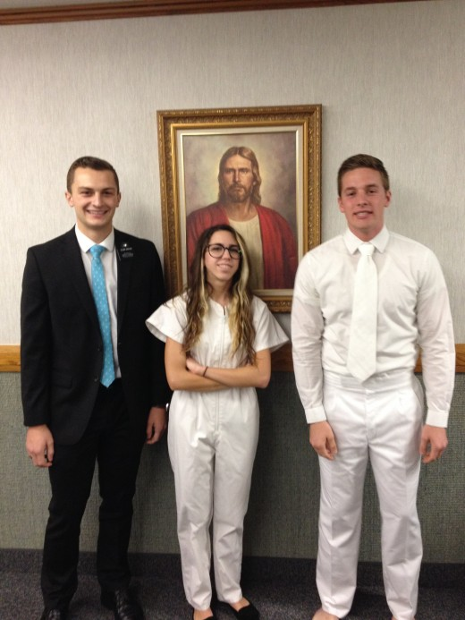 When I got baptized into the Mormon church (I left about 6 months later.)