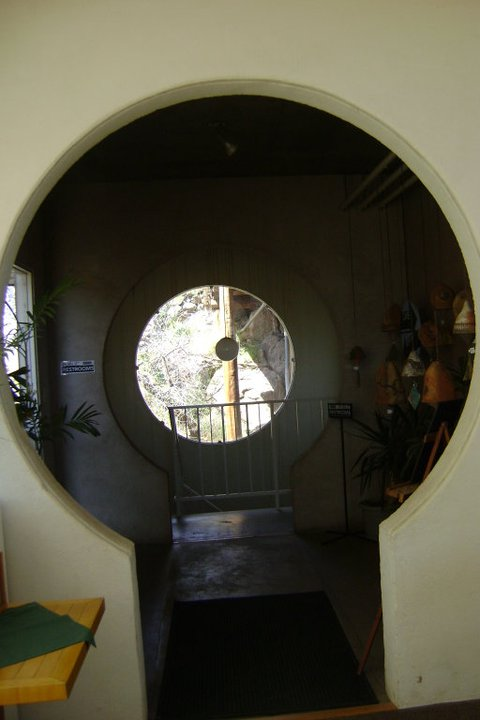 Stairway entrance to the dinning room, I found the use of circles fascinating in this space