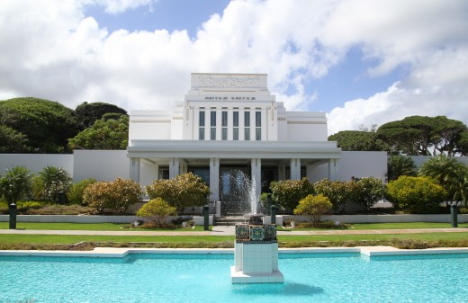 The La'ie Temple, Church of Jesus Christ of Latter-Day Saints, also known as the Mormon Church.
