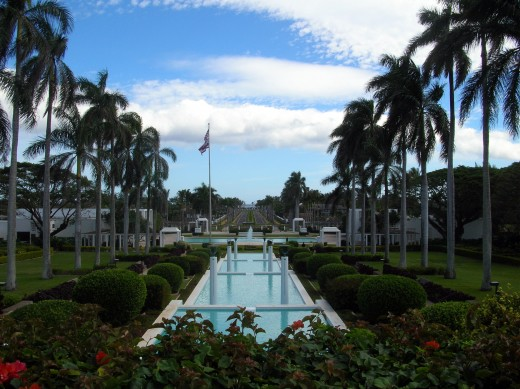 View opposite the Mormon Temple in La'ie, Hawai'i