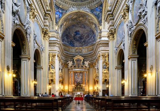 Inside the Chiesa Nuova.