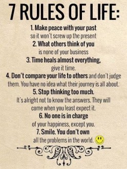 5 Golden Rules to Live By