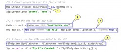 Java Examples - Creating Zip File Using