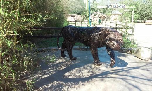 Tiger Sculpture, Hattiesburg Zoo, Hattiesburg, MS