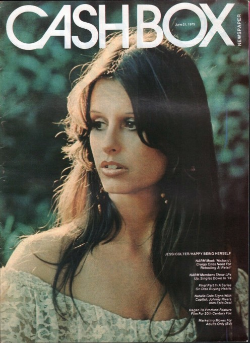 "Jessi on the cover of Cashbox magazine, June 21, 1975.  The photo is also used on her ""Jessi"" album released in 1976."