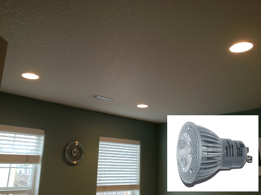 Recessed lights with LED bulb
