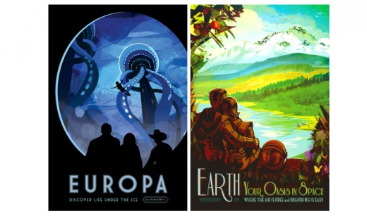 Space travel posters- Free downloads