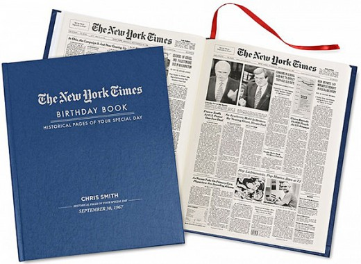 New York Times Custom Birthday Book