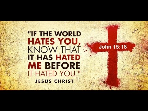 If you are loved by the world, you have NO part In CHRIST.