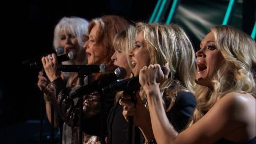 Emmylou Harris, Bonnie Raitt, Stevie Nicks, Sheryl Crow, and Carrie Underwood