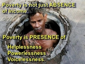 Below the poverty line!