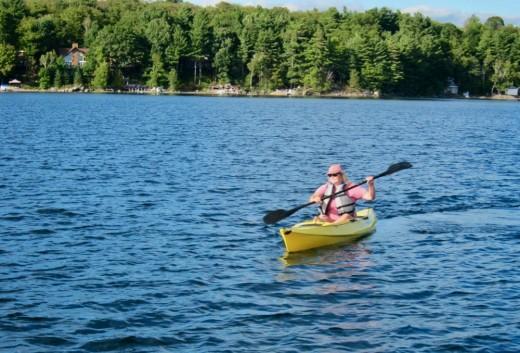 Kayaking in Muskoka