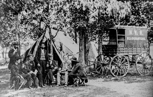 Men Gather for Conscription