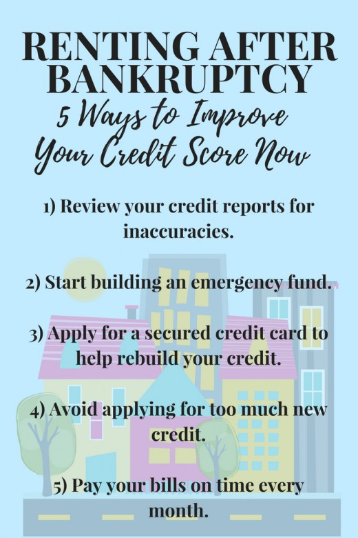 Tips to help get your credit back on track so it's easier to rent after bankruptcy.