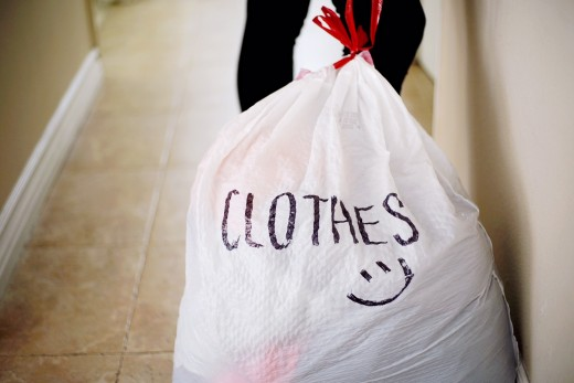 Donate or sell clothes that don't fit you anymore.