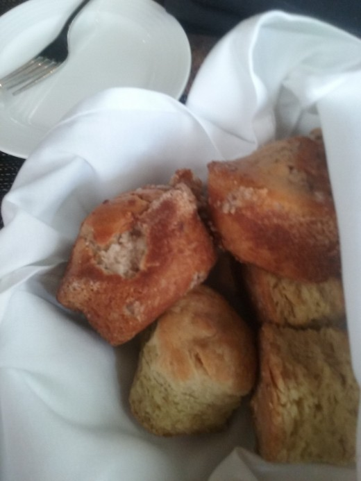 A bread basket at UNDERCURRENT RESTAURANT in Greensboro, NC