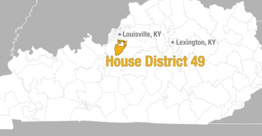 Shown: Kentucky District 49, where Trump held an average of 68-23 over Clinton, was overtaken by Democratic candidate Linda Belcher