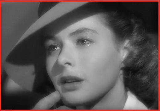 Ingrid Bergman as love-torn Ilsa Lund.