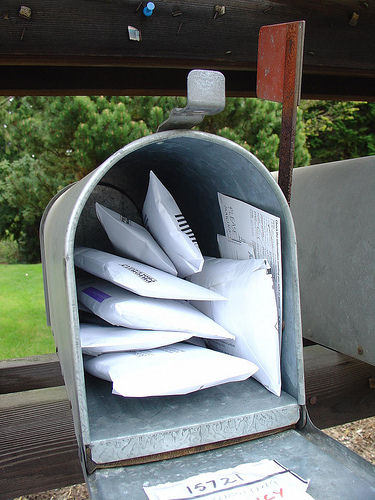 Unwanted junk mail, piling up. Photo by Oran Viriyincy under Creative Commons 2.0.
