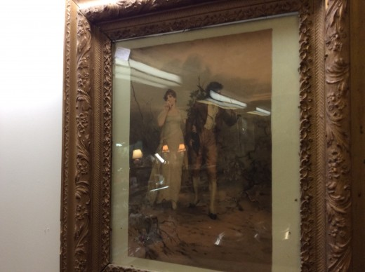 I love Regency Art, I look this photo at an antique store.  It is a lovely regency scene.