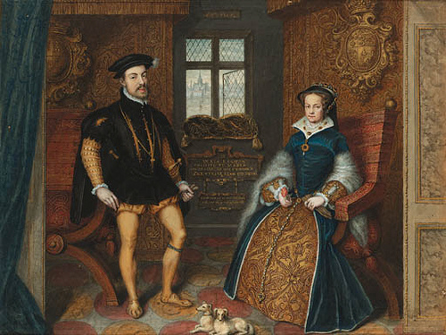 Mary Tudor and her husband Philip II of Spain