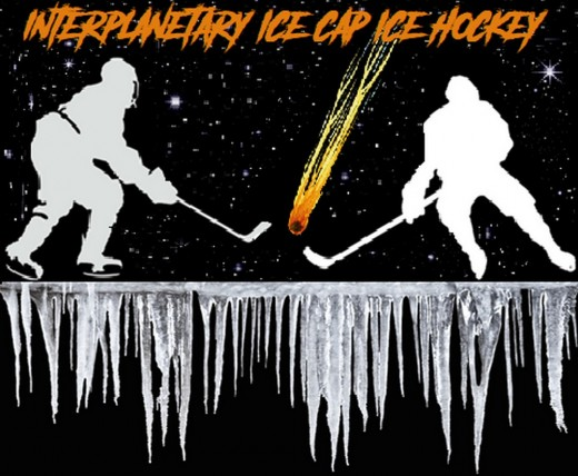 Promotional Poster for an Other-Worldly Hockey League