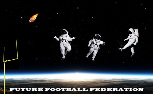 Shown: Open Space American Football; Not shown: Arena Dome Football, Canadian Icefield Football, Australian-Rules Asteroid Football, Solar System Soccer Football