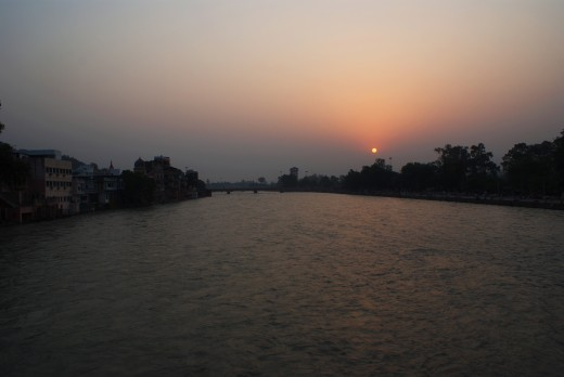 Sunrise at Haridwar
