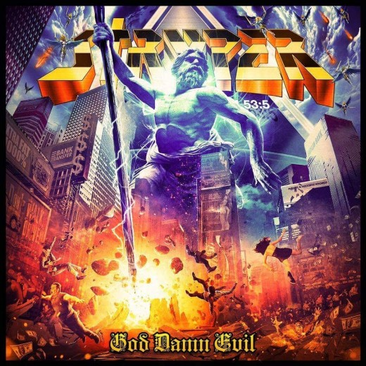 "Stryper, ""God Damn Evil"" album cover (2018)"