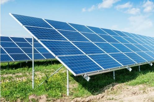 An array of solar cells