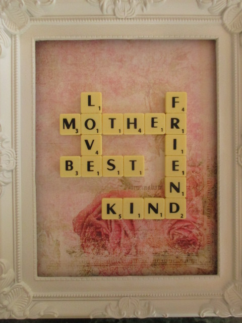 Tell your mother what she means to you with a Mother's Day Scrabble Picture